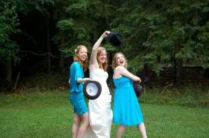 This is me, Kelsey and our friend Erica at Kelsey's wedding! We're all still friends!