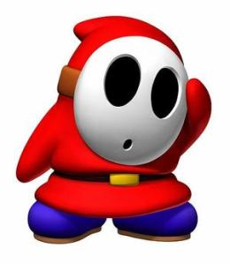 Creepy creepy shy guy...