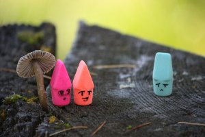 Everybody is an eraser in my head.
