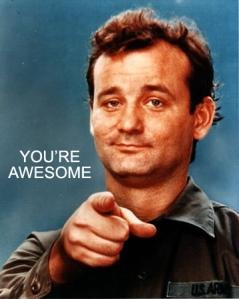 No, YOU'RE more awesome! I suck!