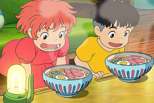 As invested as Ponyo is in getting that darned ham.