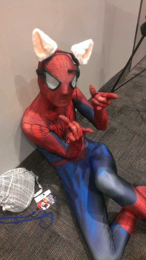 I hung out with Spiderman for much of the weekend. He was unable to fly me anywhere though.
